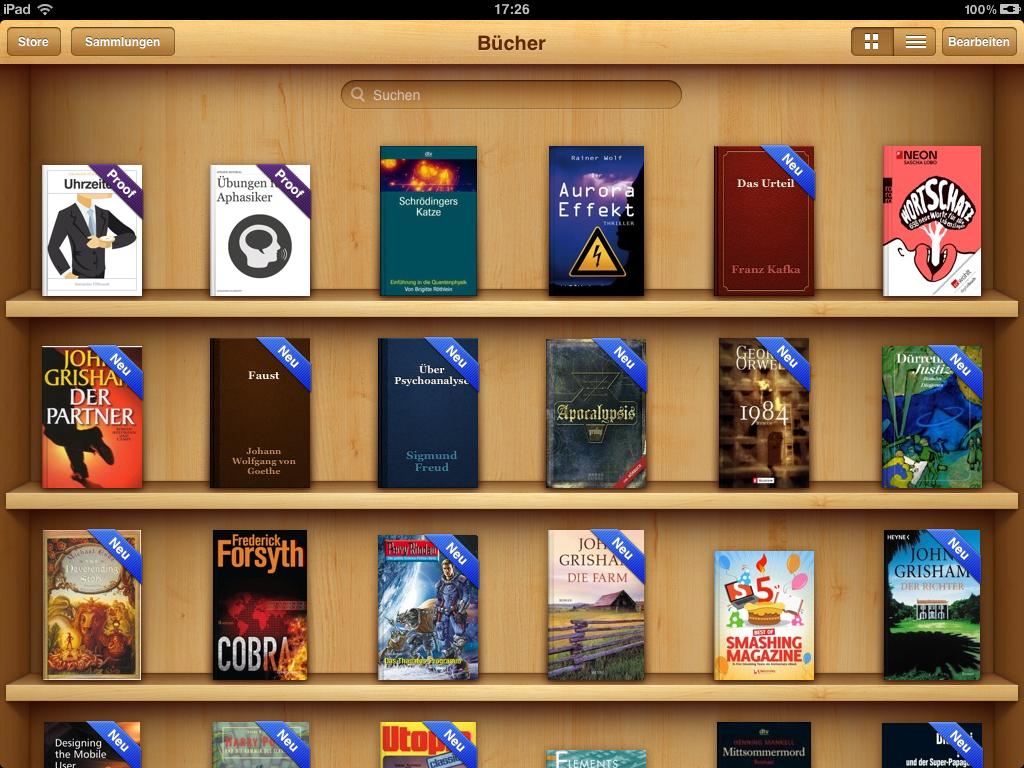 iBooks 2 auf dem iPad
