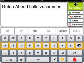 Prediction Scannermodus Tastatur Zeile